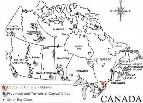 A Map Of Canada Ex 2